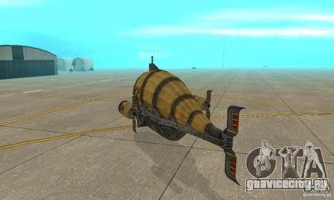 Дирижабль из TimeShift для GTA San Andreas вид справа