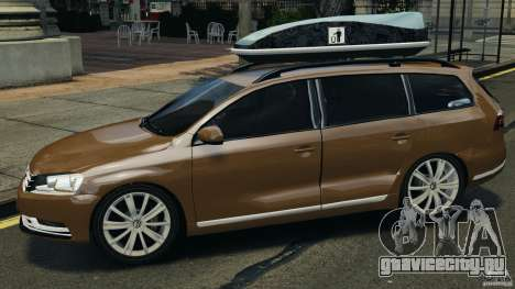 Volkswagen Passat Variant B7 для GTA 4 вид слева