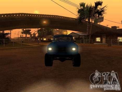 Москвич 412 - 4x4 для GTA San Andreas вид снизу