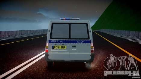 Ford Transit Polish Police [ELS] для GTA 4 салон