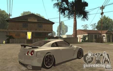 Nissan GTR SpecV 2010 для GTA San Andreas вид справа