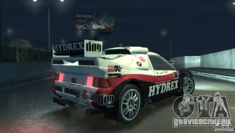 Ford RS200 Evolution Rallycross для GTA 4 вид сзади