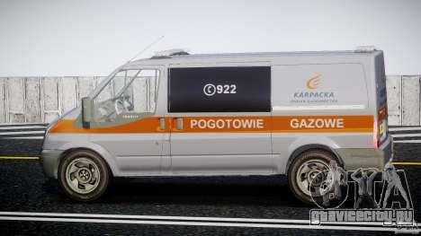 Ford Transit Usluga polski gazu [ELS] для GTA 4 вид слева