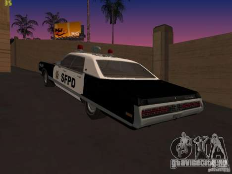 Chrysler New Yorker Police 1971 для GTA San Andreas вид слева