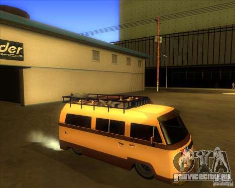 Volkswagen Kombi Classic Retro для GTA San Andreas вид сзади