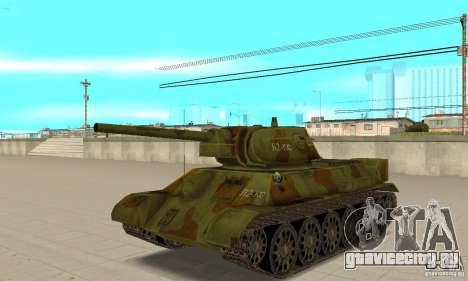 Танк T-34-76 для GTA San Andreas