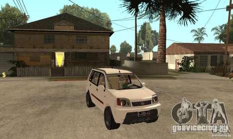Nissan X-Trail для GTA San Andreas вид сзади