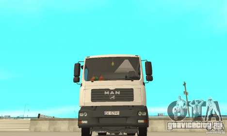 MAN TGL для GTA San Andreas вид изнутри