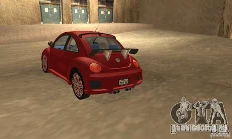 Volkswagen Bettle Tuning для GTA San Andreas вид сзади слева