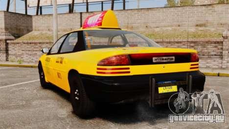 Dodge Intrepid 1993 Taxi для GTA 4 вид сзади слева