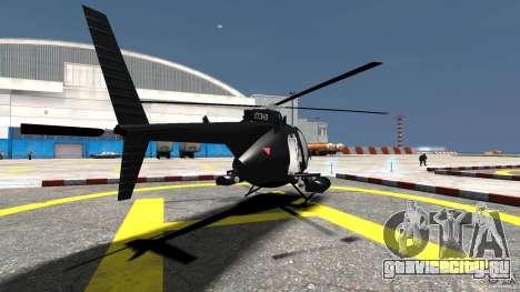 AH-6 LittleBird Helicopter для GTA 4 вид сзади слева