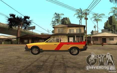 Москвич 2141 Cabriolet для GTA San Andreas вид сзади слева