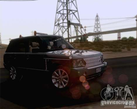 Land Rover Range Rover Supercharged 2008 для GTA San Andreas вид сверху