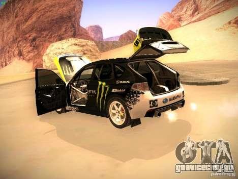 Subaru Impreza Gymkhana для GTA San Andreas вид изнутри