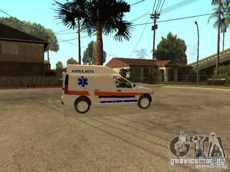 Dacia Logan Ambulanta для GTA San Andreas вид сзади