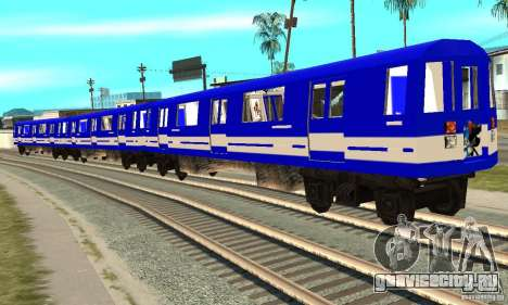 Liberty City Train Sonic для GTA San Andreas вид сзади слева