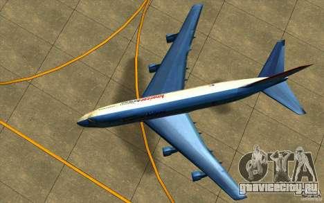 B-747 American Airlines Skin для GTA San Andreas вид сзади