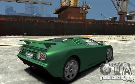 Bugatti EB110 Super Sport для GTA 4 вид справа