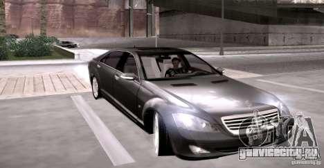 Mercedes-Benz S600 v12 для GTA San Andreas вид сзади
