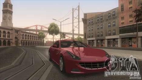 Ferrari FF 2011 V1.0 для GTA San Andreas вид сверху