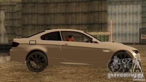 BMW M3 E92 2008 для GTA San Andreas вид сзади слева