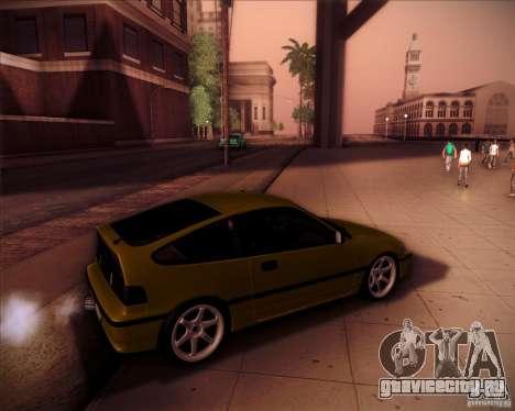 Honda Civic CRX JDM для GTA San Andreas салон