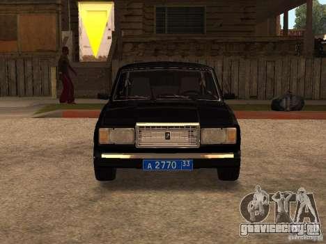 ВАЗ 21073 Служебная для GTA San Andreas вид слева