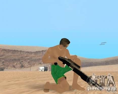 Gold weapons pack для GTA San Andreas третий скриншот