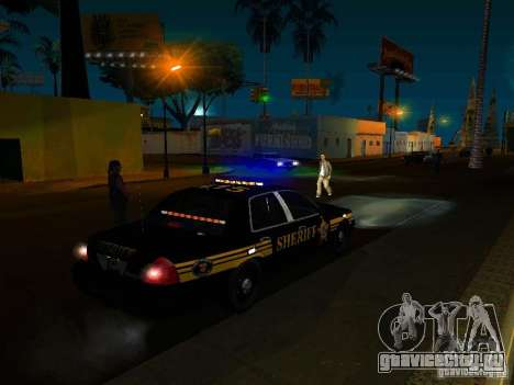 Ford Crown Victoria Erie County Sheriffs Office для GTA San Andreas вид сверху