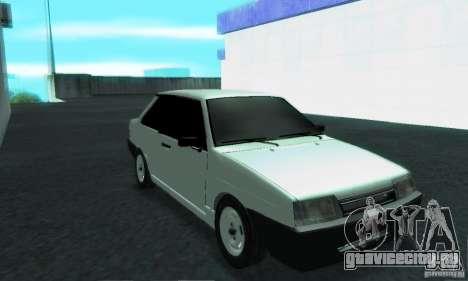 ВАЗ 21099 Coupe для GTA San Andreas вид изнутри