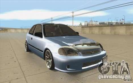 Honda Civic EK9 JDM v1.0 для GTA San Andreas вид сзади