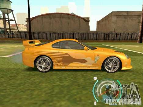 Toyota Supra from 2 Fast 2 Furious для GTA San Andreas вид сбоку