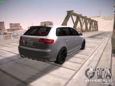 Audi RS3 2011 для GTA San Andreas вид сзади