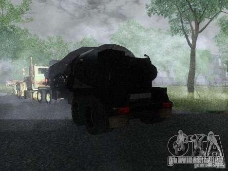 Прицеп к Armored Mack Titan Fuel Truck для GTA San Andreas вид сзади слева