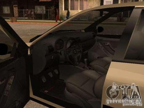 Seat Toledo 1.9 1999 для GTA San Andreas вид изнутри