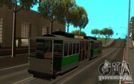 New tram mod для GTA San Andreas вид слева