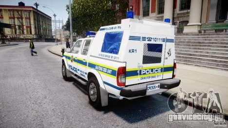 Nissan Frontier Essex Police Unit для GTA 4 вид сзади слева
