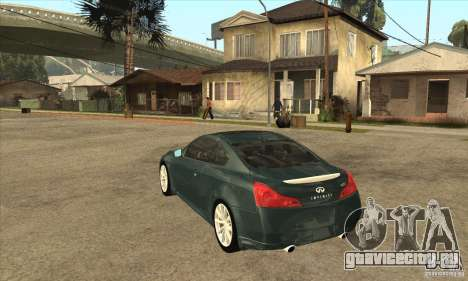 Infiniti G37 Coupe Sport для GTA San Andreas вид справа