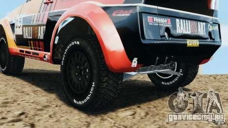 Mitsubishi Pajero Evolution MPR11 для GTA 4 вид изнутри