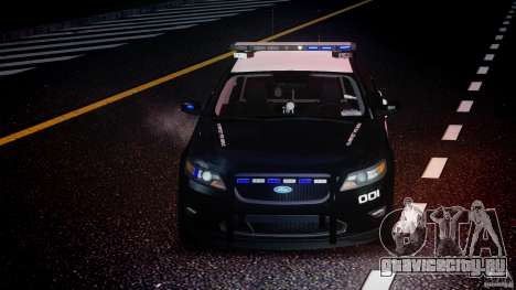 Ford Taurus Police Interceptor 2011 [ELS] для GTA 4 вид сверху