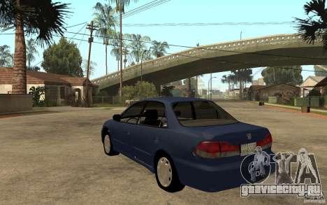 Honda Accord 2001 beta1 для GTA San Andreas вид сзади слева
