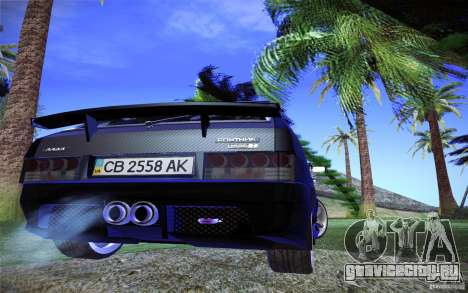 ВАЗ 2109 Карбон для GTA San Andreas вид сзади