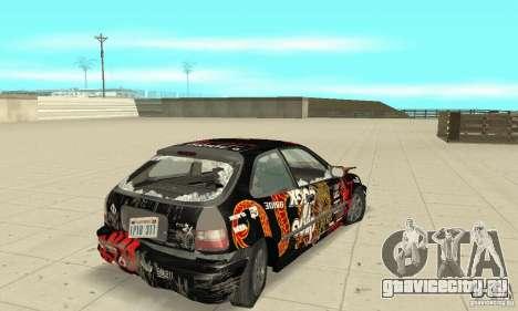 Honda-Superpromotion для GTA San Andreas вид сверху
