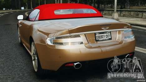 Aston Martin DBS Volante [Final] для GTA 4 вид сзади слева