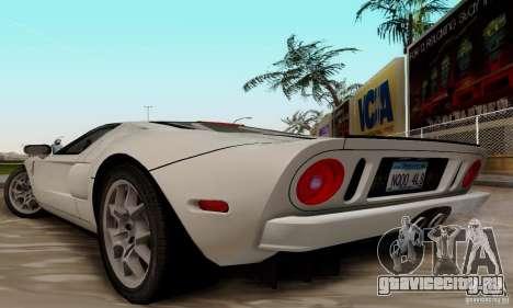 Ford GT 2005 для GTA San Andreas вид справа