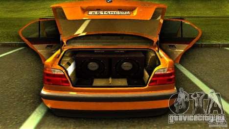 BMW 730i Taxi для GTA San Andreas вид сзади