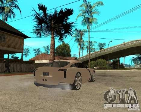 TVR Sagaris для GTA San Andreas вид сзади слева