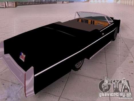Cadillac Deville 1974 для GTA San Andreas вид сзади слева