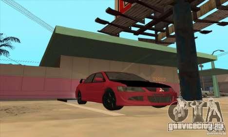 Mitsubishi Lancer Evolution IX Carbon V1.0 для GTA San Andreas вид сзади слева