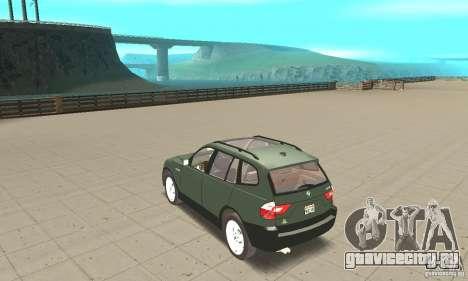 BMW X3 2.5i 2003 для GTA San Andreas вид сзади слева